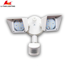 Newly design 2X10w 120vac aluminum led outdoor security flood light dusk to dawn for residential lighting